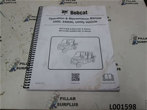 Bobcat Operation Amp Maintenance Manual For 3400 Amp 3400xl