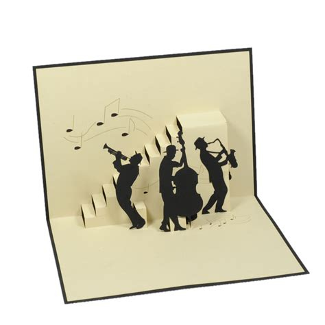 Pop Up Card 1 jazz band pop up card birthday 3d cards charm pop germany