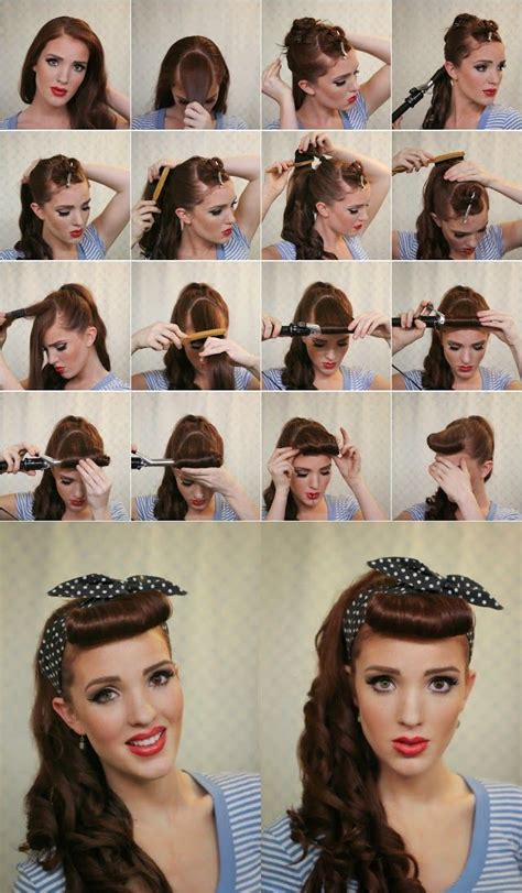 50s greaser hairstyles newhairstylesformen2014 com 50s hairstyles for long hair tutorial google search