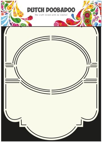 A4 Swing Card Template by Doobadoo Card Stencil Swing Card 5 Oval A4