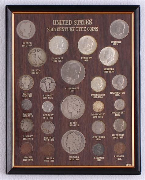 20th Century Coins Framed by Sports Memorabilia Auction Pristine Auction