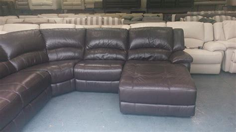 leather electric recliner chaise corner sofa ronson brown leather electric recliner corner sofa with