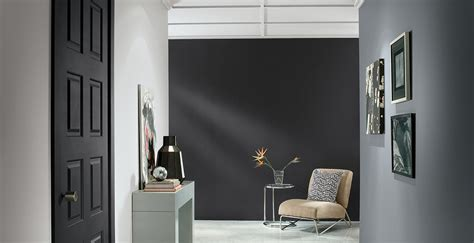 use grays and black to create museum effect in your hallways colors shown here are from behr
