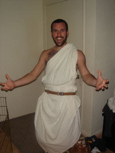 bed sheet toga thommy was leaving so we had a toga party josh highland