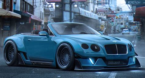 widebody cars dreaming up a widebody bentley continental gt convertible