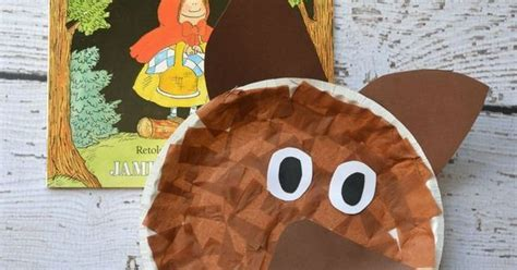 Wolf Paper Plate Craft - paper plate wolf kid craft wolf and craft