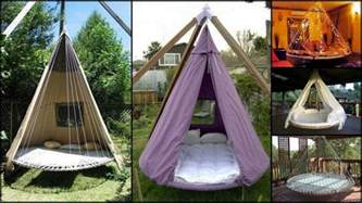 Comfortable Bed Sheets swing bed made from recycled trampoline