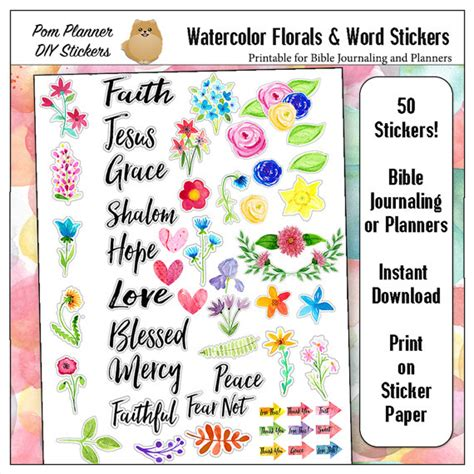 free printable journal stickers printable bible journaling planner stickers in hand