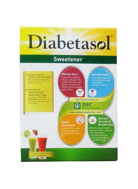 Diabetasol Sweetener 50 Sachet 1gr diabetasol sweetener stevia 50 s box 50x2g klikindomaret