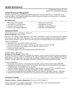 Sle Restaurant Resume by Airport Project Manager Cover Letter