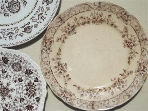 vintage china patterns antique vintage brown transferware china plates lot