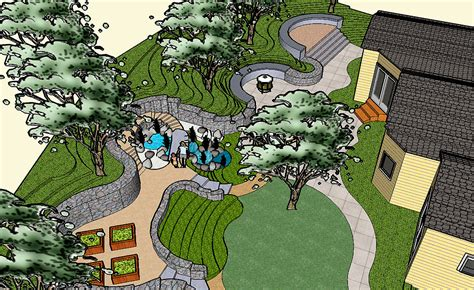 landscape layout sketchup sketchup compilation by clay tully at coroflot com