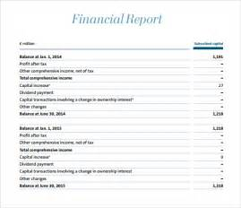 Samples Of Financial Reports Doc 585600 Sample Financial Report Template 10 Free
