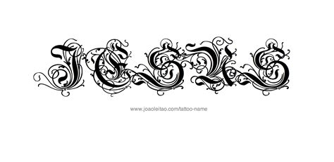 name font tattoo designs jesus name designs