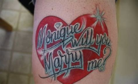 tattoo of us will you marry me monique will you marry me