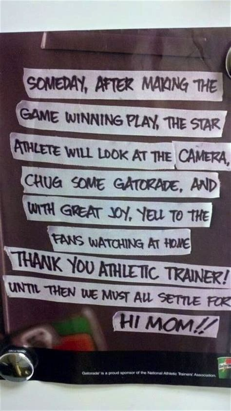 quotes about athletic trainers athletic trainer quotes quotesgram