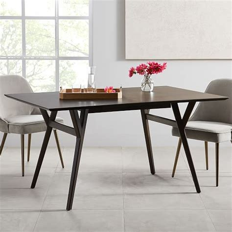 mid century expandable dining table west elm mid century expandable dining table west elm