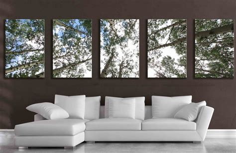 large wall art large 5 panel wall art aspen tree canvas decor five multipiece