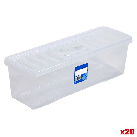Clear Box No20 cd plastic storage box clear container with lid home storage organiser boxes ebay