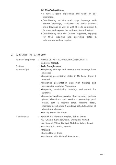 Sle Resume For Architectural Drafting Cad Draftsman Resume Sales Draftsman Lewesmr