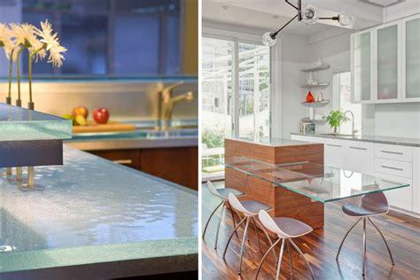 encimeras de vidrio 8 materiales para la encimera de la cocina