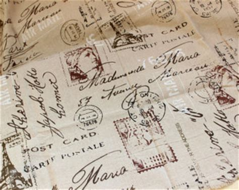 Upholstery Fabric French Script Newspaper Etsy