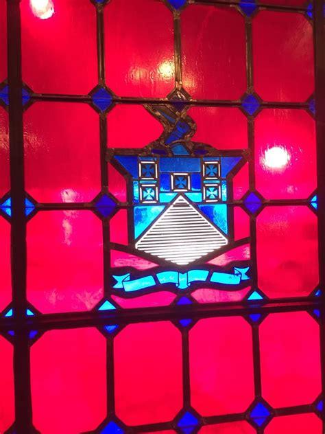 swinging door exchange stained glass front window great lighting yelp