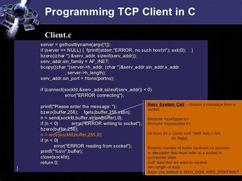 tutorial socket c socket programming tutorial