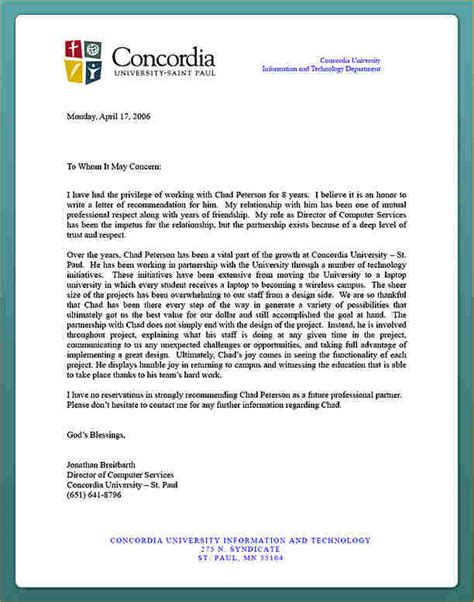 Recommendation Letter For Commerce Student Academic Reference Letter For Student Business