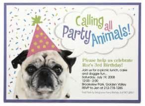 dog birthday party invitations bagvania invitations ideas