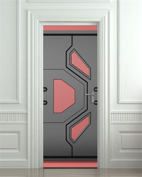 futuristic doors door sticker futuristic gate hi tech star mural decole