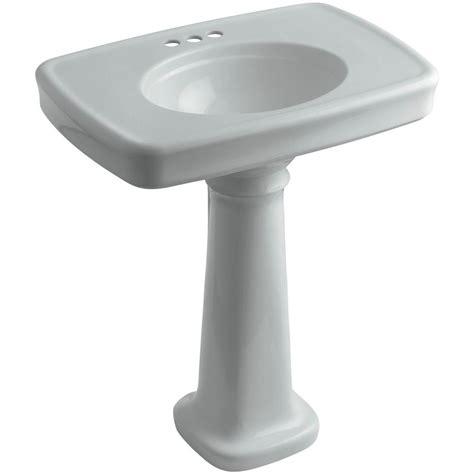 kohler bancroft pedestal sink kohler bancroft vitreous china pedestal combo bathroom