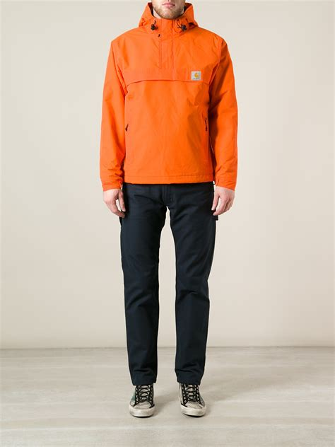 Sweater Carhart Roffico Cloth carhartt nimbus pullover jacket in orange for lyst