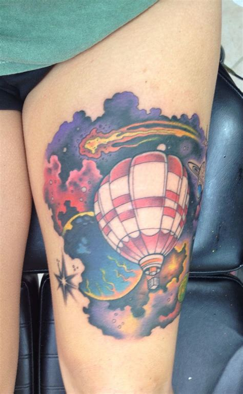 seek higher than the stars outer space air balloon