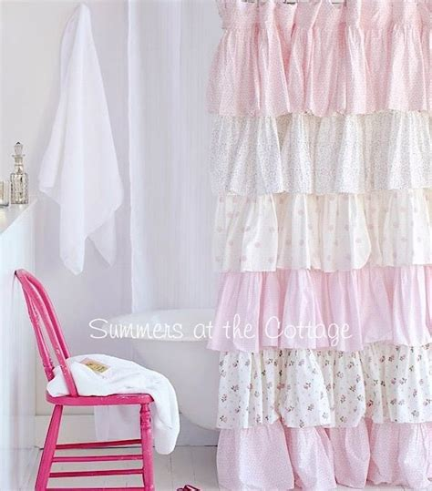 shabby chic curtains cottage 17 best images about shower curtains on pinterest red