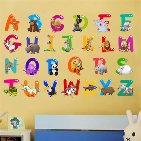 Wall Sticker Colorful Numbers colorful 26 letters alphabet wall stickers for