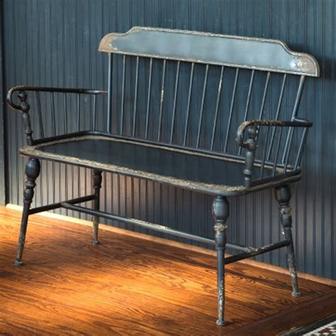 antique windsor bench park hill collection metal windsor bench hc1402