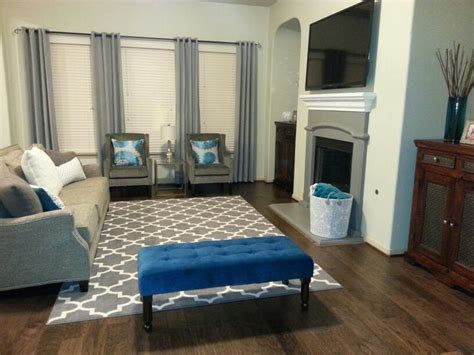 teal gray living room for the home