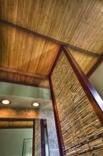 bamboo ceiling for lanai basement ideas