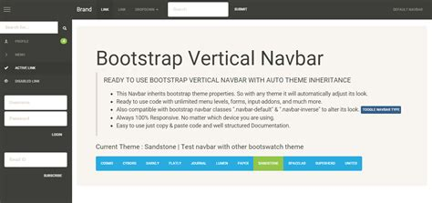 bootstrap tutorial left menu auto inherit bootstrap theme vertical sidebar by webonick