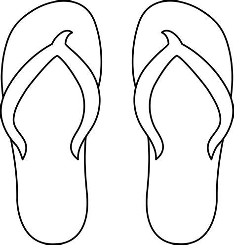 template of flip flops flip flops line free clip free coloring books