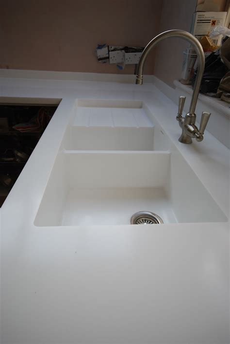 corian sink kitchen sinks draining areas solidity