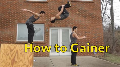 how to be better at parkour how to do a gainer parkour freerunning tutorial