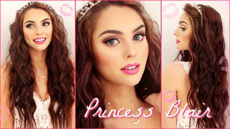 gossip girl hairstyles youtube blair waldorf pink wedding makeup wavy hair tutorial