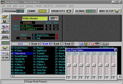 tr editpro soundeditor soundtower software software the editing programs for korg alesis and waldorf