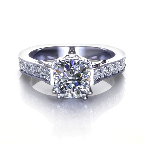 Cushion Cut Engagement Rings by Cushion Cut Engagement Rings Jewelry Designs