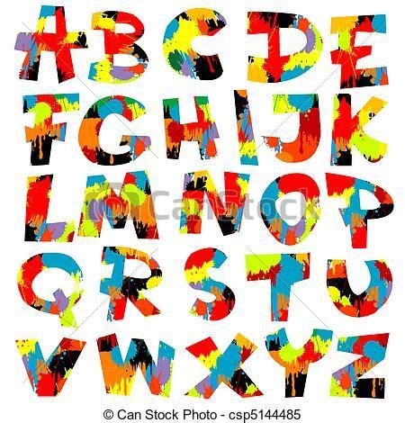 free abc painting illustrations de peinture lettres eclabousse alphabet