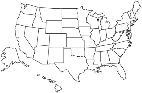 blank map of the us united states outline map
