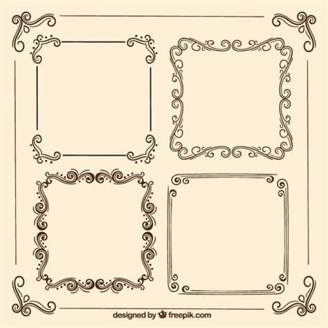 cornici per etichette retro cornici ornamentali scaricare vettori gratis
