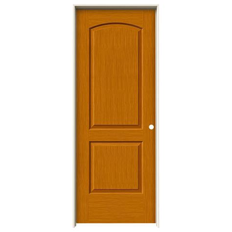 Interior Doors 30 X 80 Jeld Wen 30 In X 80 In Continental Saffron Stain Left Solid Molded Composite Mdf